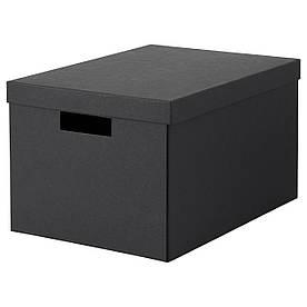 IKEA TJENA (303.954.77) Коробка з кришкою, чорний