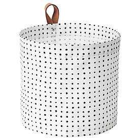 IKEA PLUMSA (603.635.78) Контейнер белый, черный