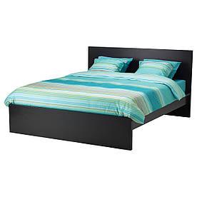 IKEA MALM (990.190.86) Кровать, высокий, белый витраж, Luroy
