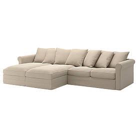 IKEA GRONLID (492.557.83) 4-местный диван, с шезлонгом, Ljungen светло-зеленый