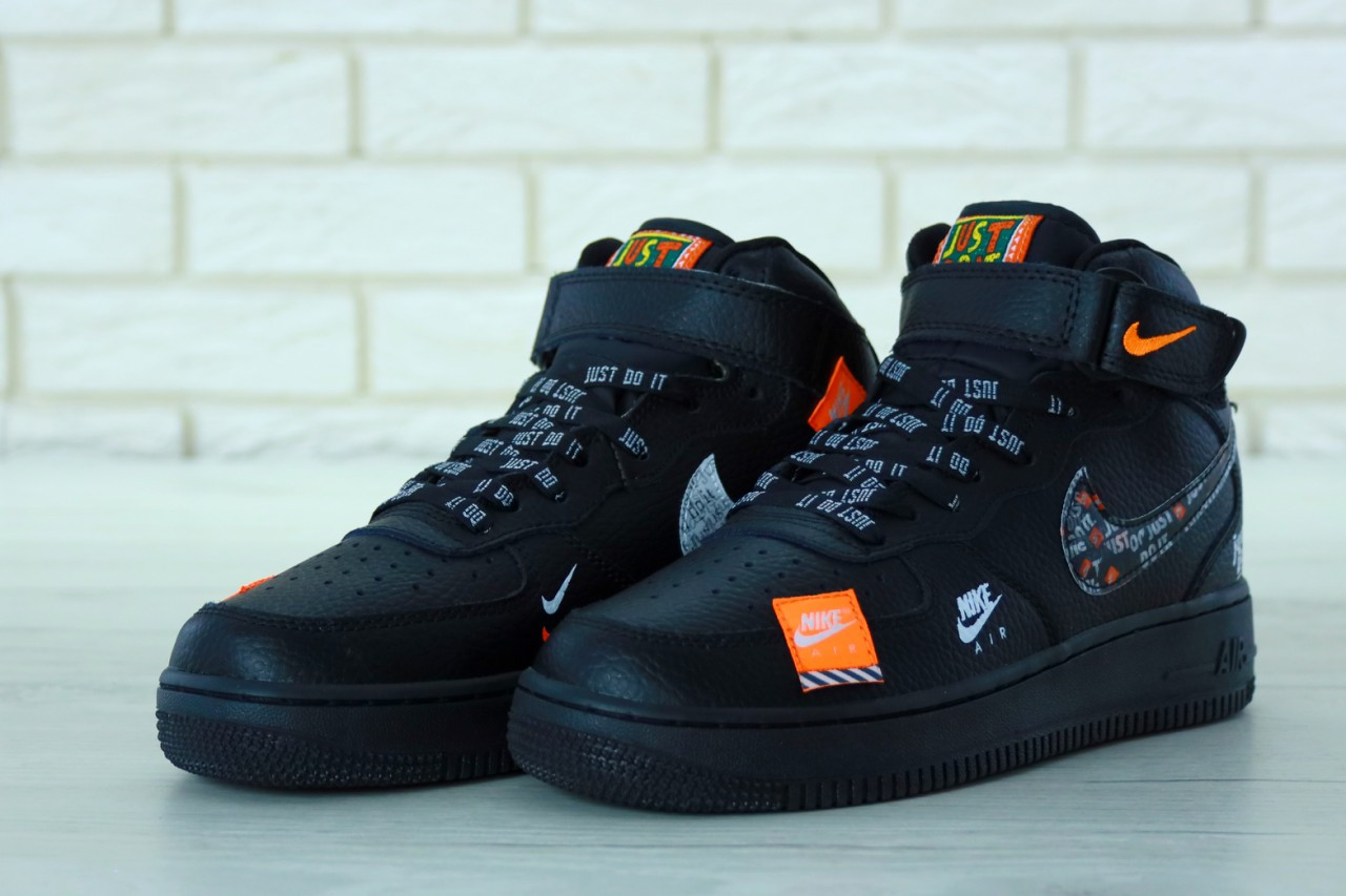 2480c4dc6399a2 Мужские Кроссовки Nike Air Force 1 Low Just Do It Pack White Найк аир форс (