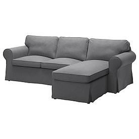 IKEA EKTORP (491.610.63) 3-местный диван, Lofallet с шезлонгом, Lofallet