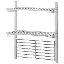 IKEA KUNGSFORS (192.543.32) Рейлингс полькою/ґратами, нержавіюча сталь