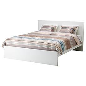 IKEA MALM (590.198.42) Ліжко, високий, білий вітраж, Luroy