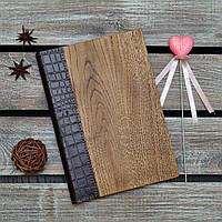 Блокноты с деревянной обложкой. (А00325)