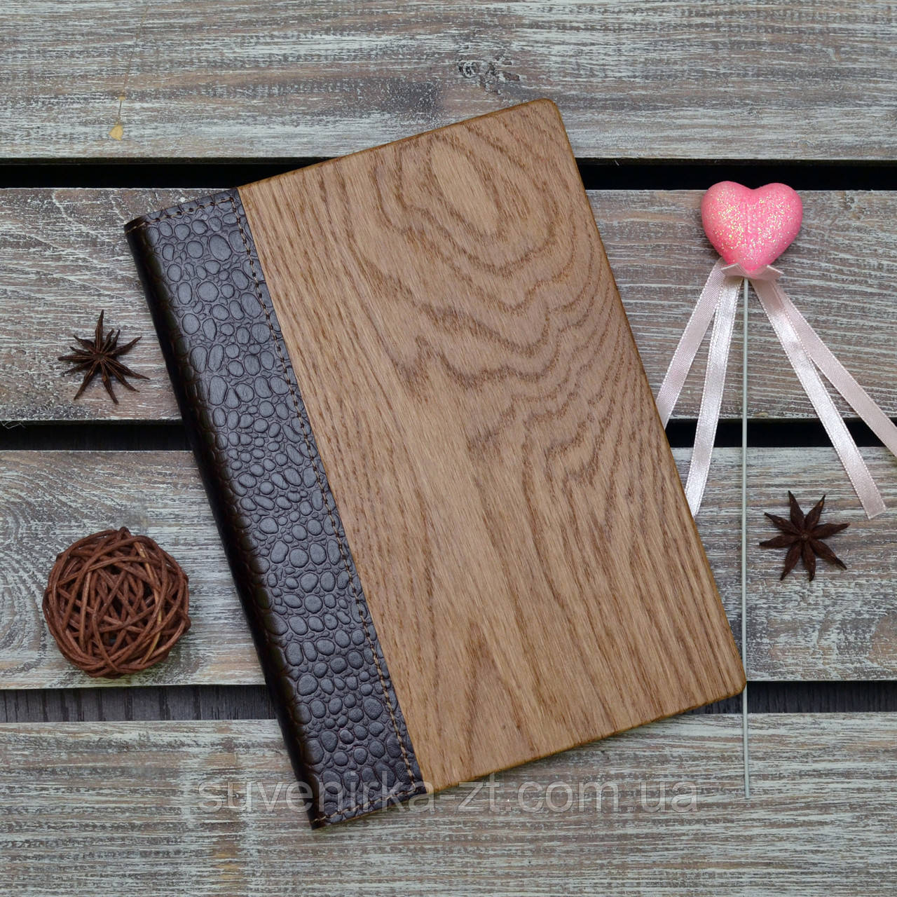 Блокноты с деревянной обложкой. (А00320)
