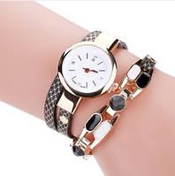 Стильные модные оригинальные женские часы - браслет  , черные