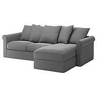 IKEA GRONLID (592.560.65) 3-местный диван, с шезлонгом, Inseros светло-голубой
