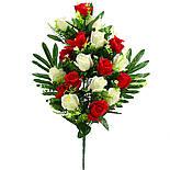 Букет розы двухцветной.  (5 шт. в уп), фото 6