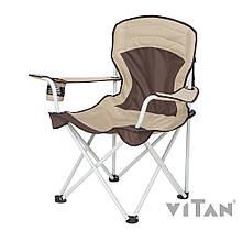 """Кресло Витан """"Берег"""" алюминий d19 мм (коричневый-беж) 2110003"""