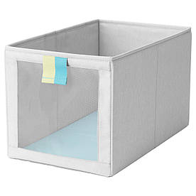 IKEA SLAKTING (603.279.67) Ящик-Коробка сірий, бірюзовий