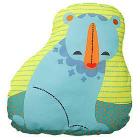 IKEA LATTJO (903.512.82) Подушка, ведмідь, синьо-зелений