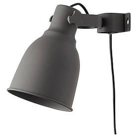 IKEA HEKTAR (802.153.08) Відбивач з затиском/стіною, темно-сірий