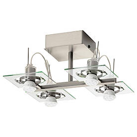 IKEA FUGA (402.626.22) Потолочное освещение/4 отражателя, хром, прозрачное стекло