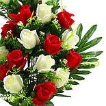 Букет розы двухцветной.  (5 шт. в уп), фото 2