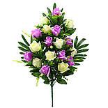 Букет розы двухцветной.  (5 шт. в уп), фото 4