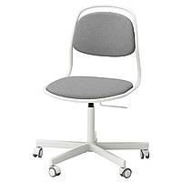 IKEA ORFJALL / SPORREN (291.624.45) Рабочий стул, белый, Vissle светло-серый