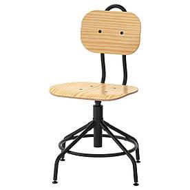 IKEA KULLABERG (103.203.41) Робочий стілець, сосна, чорний