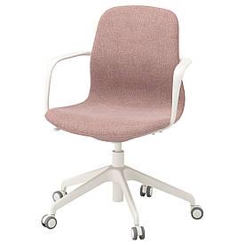 IKEA LANGFJALL (092.527.86) Робочий стілець, Gunnared світло-рожевий, білий