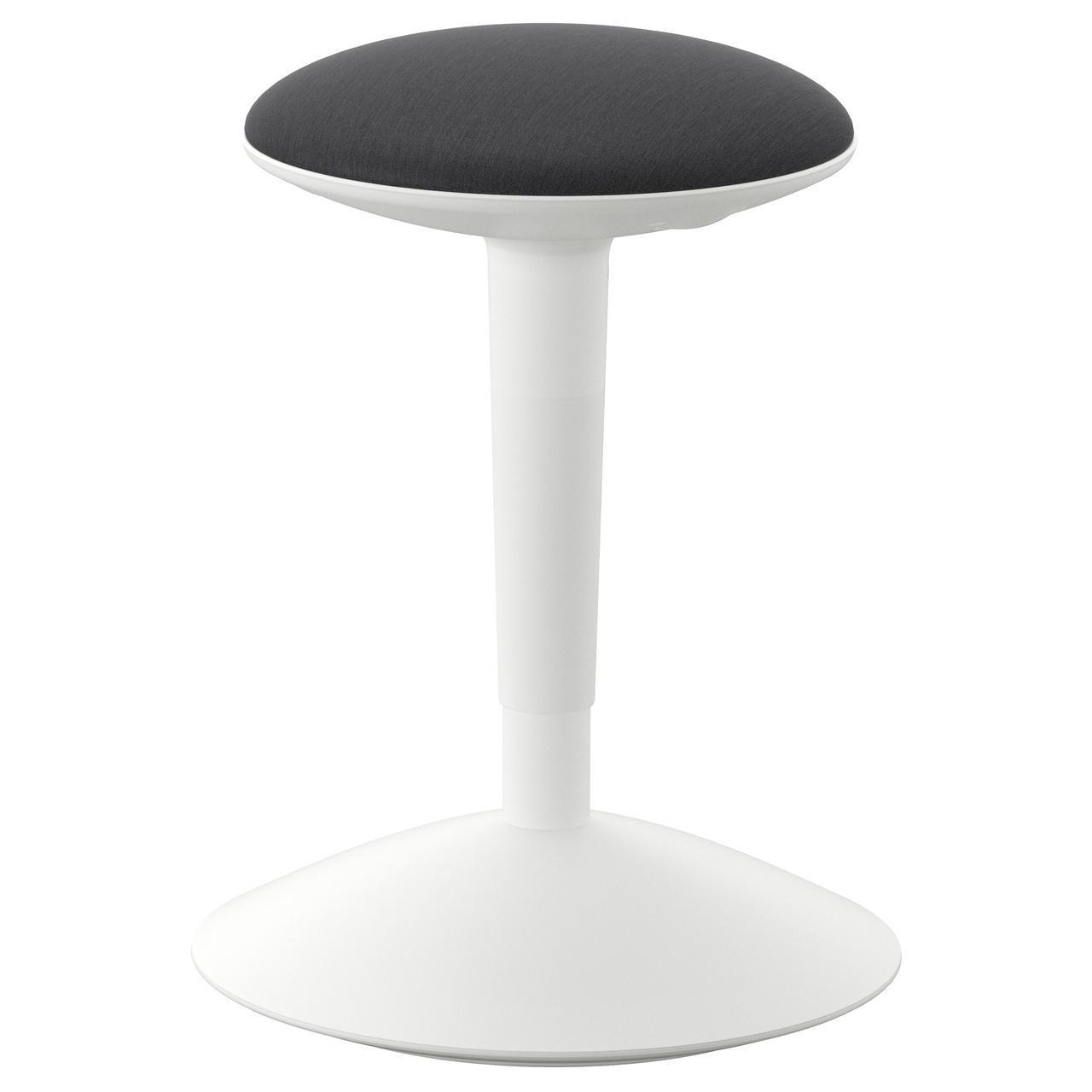 IKEA NILSERIK (903.097.21) Табурет рабочий, белый / серый Vissle