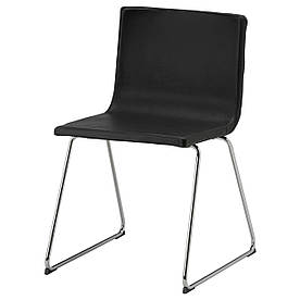 IKEA BERNHARD (201.638.02) Стілець, хром, Kavat Mjuk, темно-коричневий