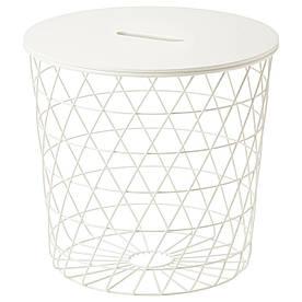 IKEA KVISTBRO (303.494.52) Журнальный столик, с местом для хранения, белый