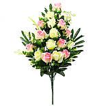 Букет розы двухцветной.  (5 шт. в уп), фото 7