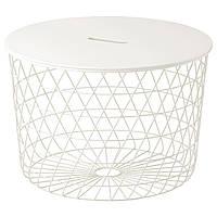 IKEA KVISTBRO (503.222.39) Стол с местом для хранения, белый