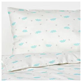 IKEA HIMMELSK (003.195.31) Comp. Постільна білизна для ліжка, 3 шт., Бірюзовий