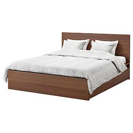 IKEA MALM (991.312.81) Ліжко, висока, 4 контейнера, білий вітраж, Luroy