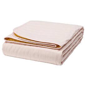 IKEA STILLSAMT (403.594.07) Покрывало на кровати, розовое, желтое