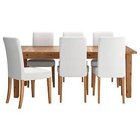 IKEA STORNAS / HENRIKSDAL (291.976.85) Стіл та 6 стільців, пляма патини, білий Grasbo