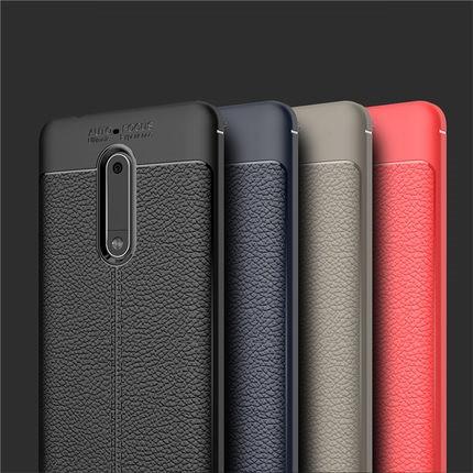 """NOKIA 5.1 Plus (X5) оригинальный противоударный чехол панель накладка 360* 3D защита кожаная текстура """"LETH"""""""""""