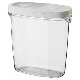 IKEA IKEA 365+ (800.667.23) Контейнер для сухих продуктів/кришок, прозорий, білий