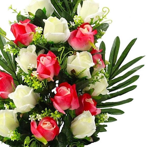 Букет розы двухцветной.  (5 шт. в уп)