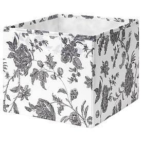 IKEA GOPAN (802.775.13) Коробка для одягу, квітковий візерунок чорний, білий