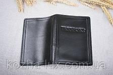 Обложка на паспорт чёрная, натуральная кожа, фото 2