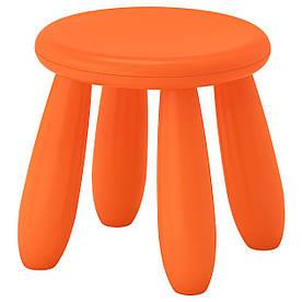 IKEA MAMMUT (503.653.61) стілець Дитячий, оранжевий