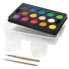 IKEA MALA (201.932.67) Акварелі, різні кольори, різні кольори