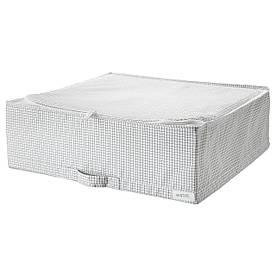 IKEA STUK (403.095.73) Контейнер для одягу/постільних речей, білий/сірий