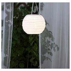 IKEA SOLVINDEN (203.829.51) Подвесная лампа, солнечная энергия, белая сфера
