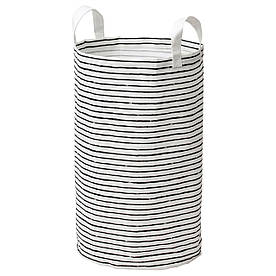 IKEA KLUNKA (503.643.71) Сумка для білизни, біла, чорна