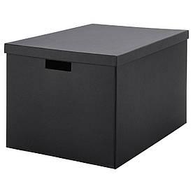 IKEA TJENA (103.743.48) Коробка з кришкою, чорний