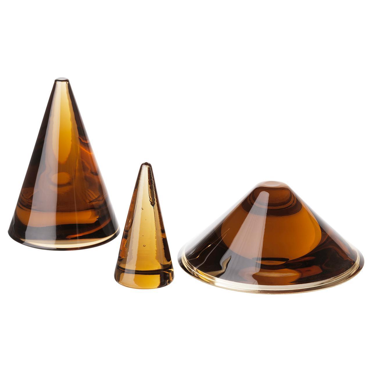 IKEA HJARTELIG (204.063.44) Ювелирный конус, набор из 3 штук, медовый коричневый