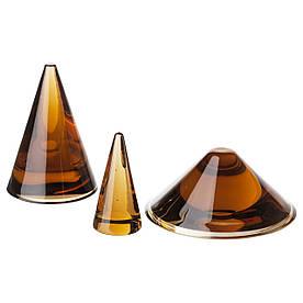 IKEA HJARTELIG (204.063.44) Ювелірний конус, набір з 3 штук, медовий коричневий