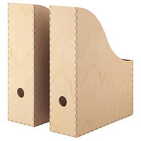 IKEA KNUFF (501.873.40) Підставка для журналів, 2 шт., Фанера