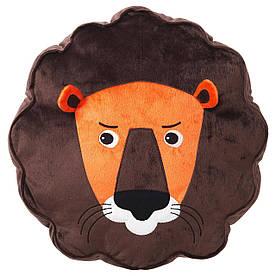 IKEA DJUNGELSKOG (303.937.46) Подушка, Лев, коричневий