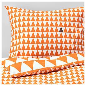 IKEA STILLSAMT (103.586.59) Комплект білизни, світло-оранжевий