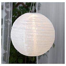 IKEA SOLVINDEN (503.828.22) Подвесная лампа, солнечная энергия, белая сфера