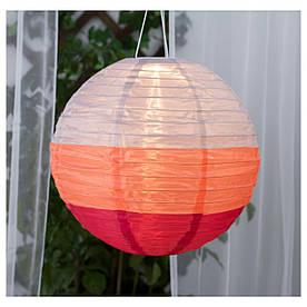 IKEA SOLVINDEN (303.829.55) Подвесная лампа, солнечная энергия, разноцветный шарик